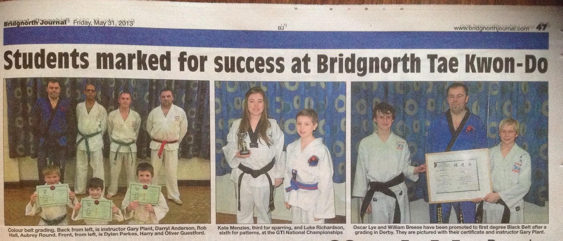 Celebrating more successes in the Bridgnorth Journal.