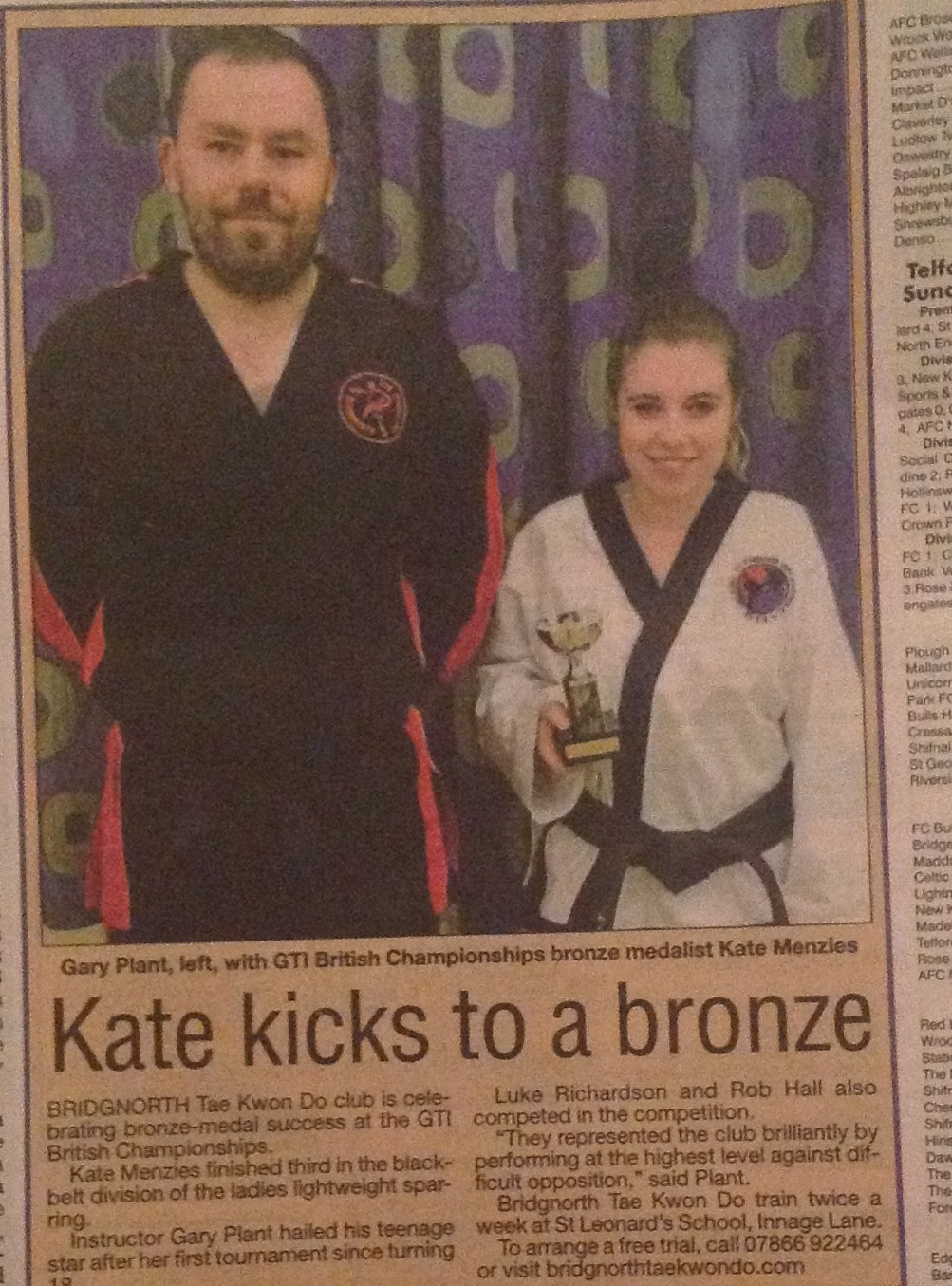 Kate wins silver at the Nationals