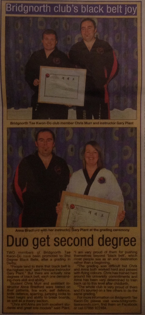 Bridgnorth Tae Kwon-Do Black Belts!