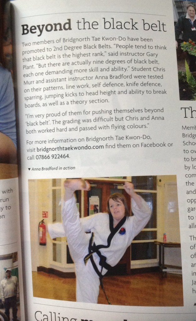 Bridgnorth Black Belts in the What's What magazine