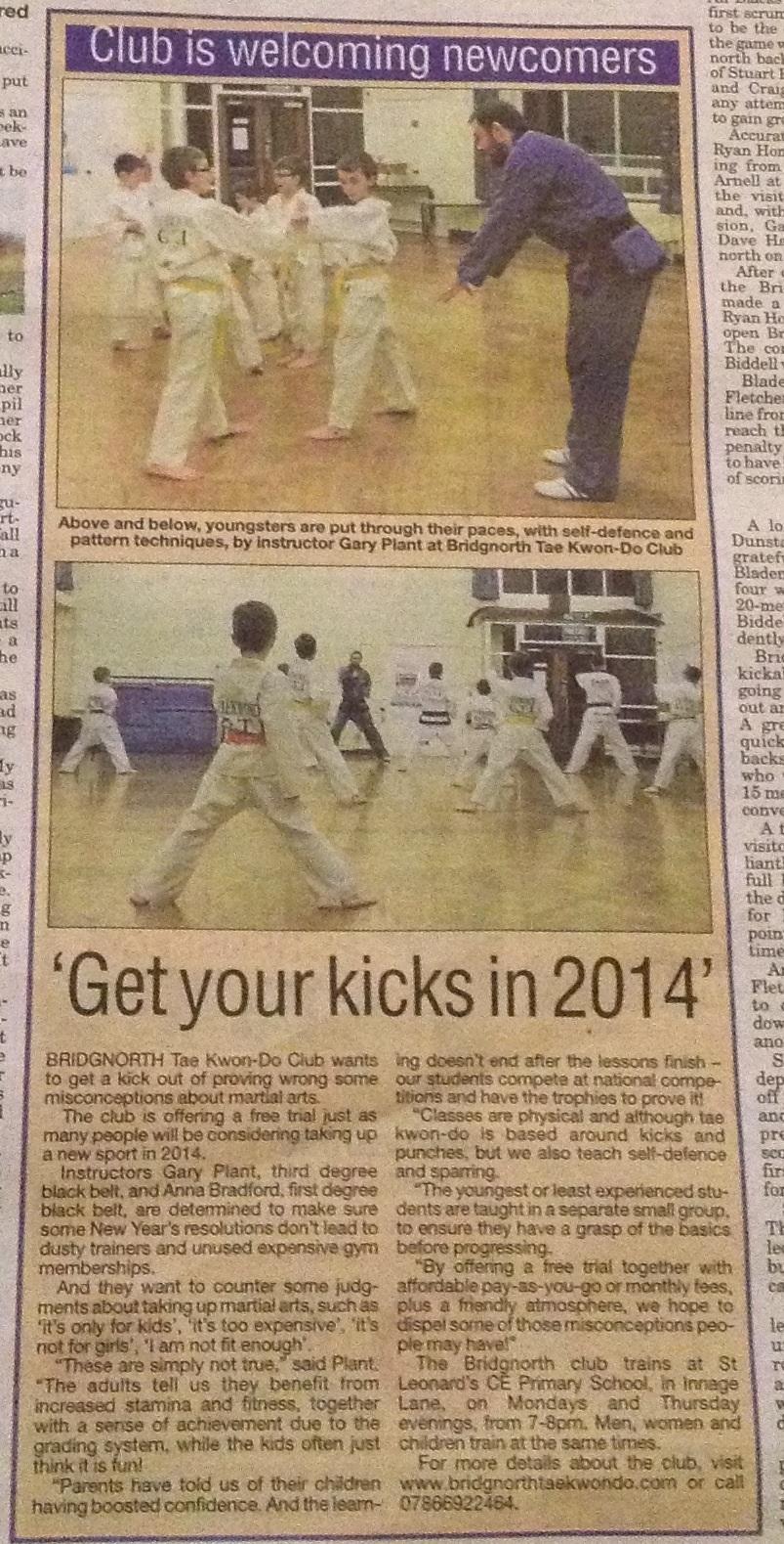 New Year New You: Bridgnorth Journal, January 2014