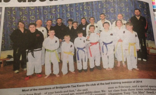 New Year New You feature in the Bridgnorth Journal, January 2015