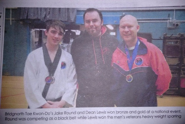 Bridgnorth Tae Kwon-Do's Dean and Jake, with their gold and two bronze medals!