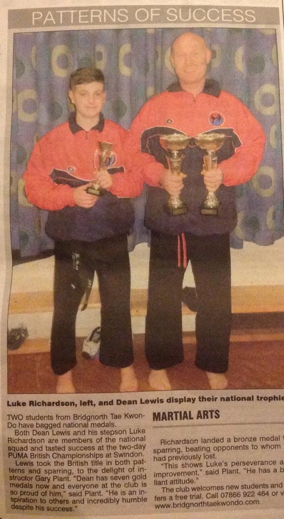 Bridgnorth martial artists excel again! Shropshire Star, March 2014