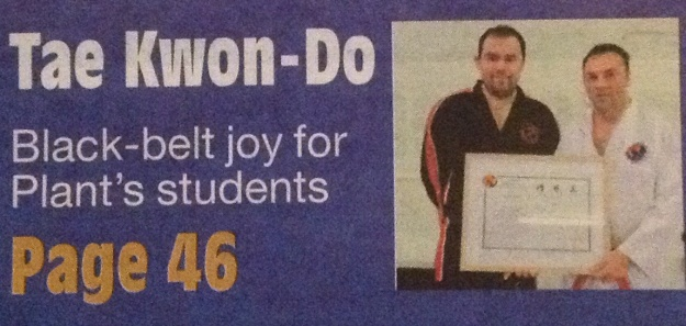 Bridgnorth Journal reporting on our new Black Belts, May 2014